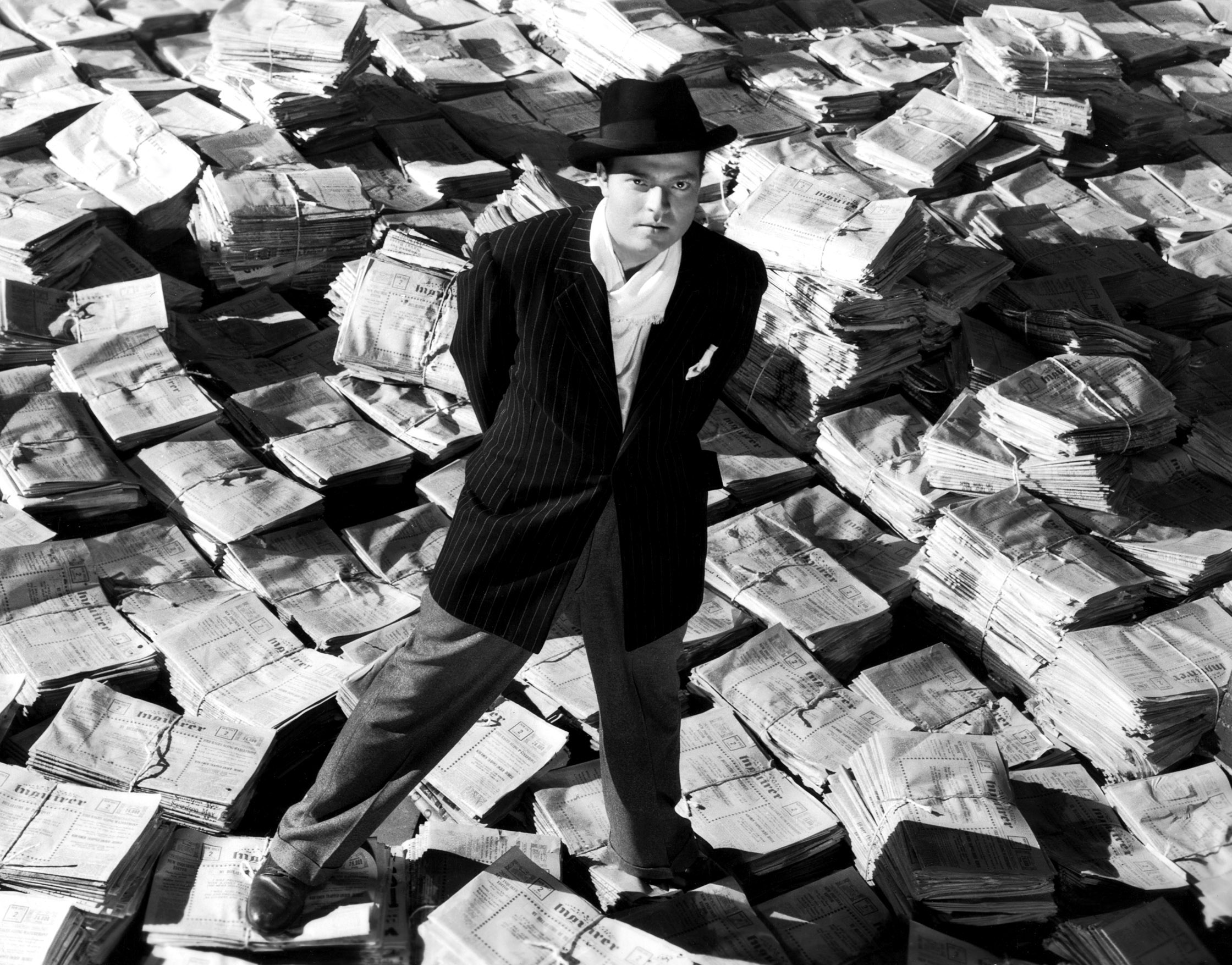 "Orson Welles en ""Citizen Kane""."